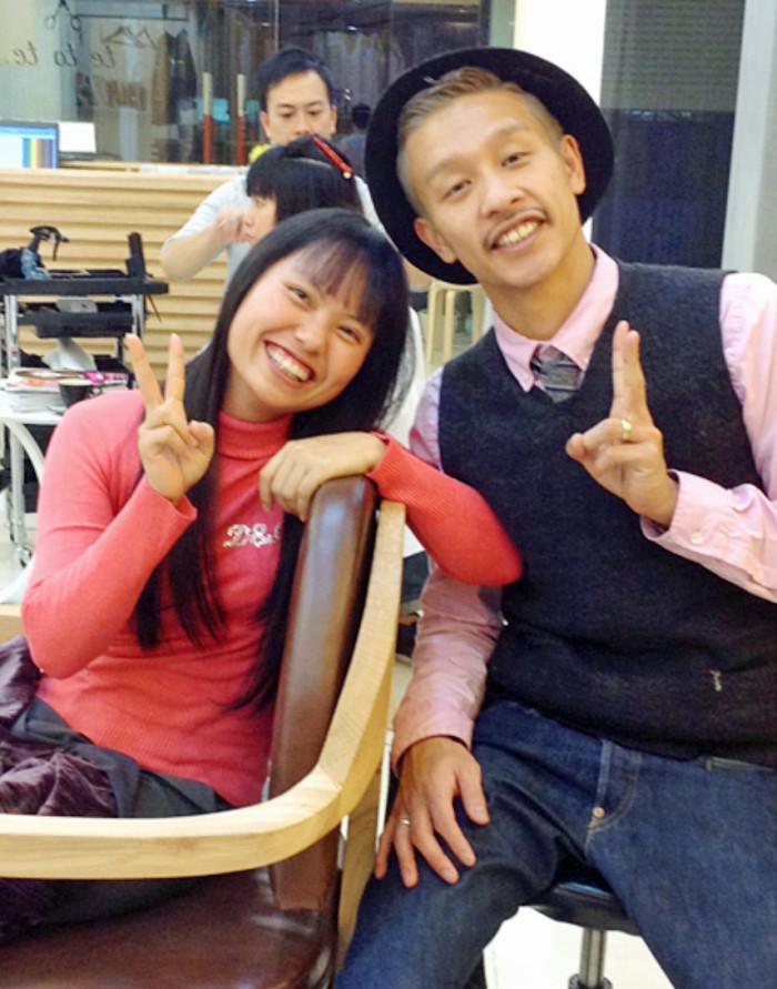 阪下さんのヘアカットを受けるようになってから婚約者が現れたHongちゃん「阪下さん有り難うございます」