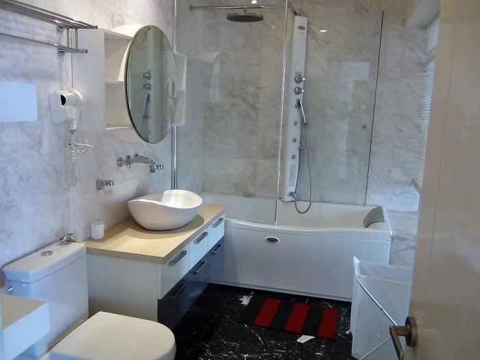 オーナーが特に力を入れて改造したバスルーム