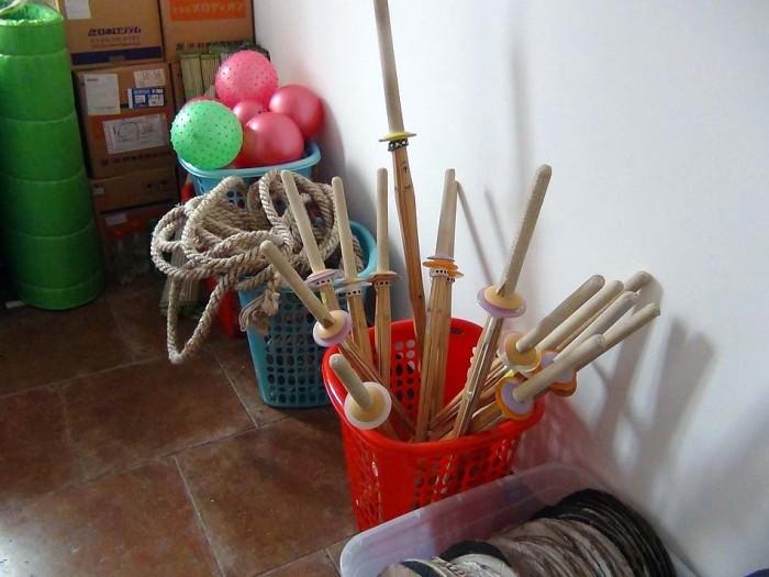 放課後の体操や剣道クラブで使います