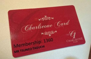 Charlie ONE Clubのメンバーシップカード