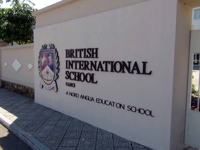 Britishのインターナショナルスクールはハノイではここだけです