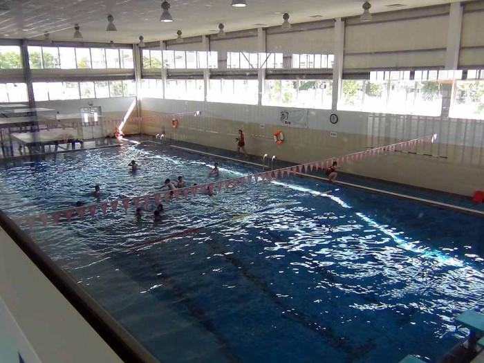体育館の横にある室内プール