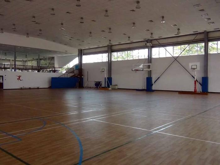 すっきりとした広さの体育館です
