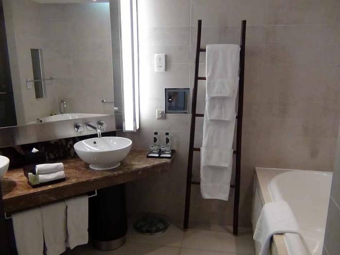 どの部屋も統一感のあるバスルーム