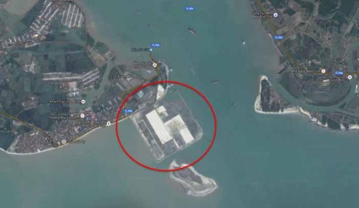 ラックフェン国際港の航空写真