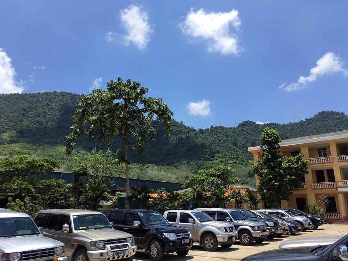 山間の空気の綺麗な工場です