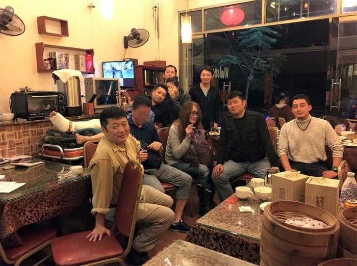 ハノイから足を骨折した山崎さんが、この夜だけの為に来てくれた!