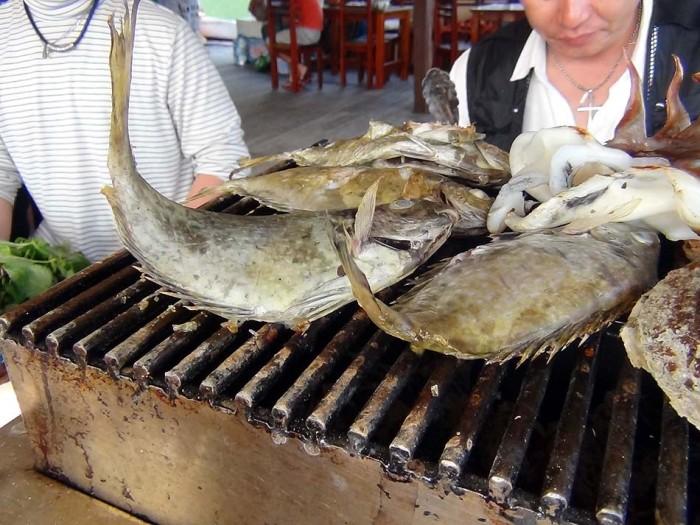 魚が塩が利いていて・・最高!
