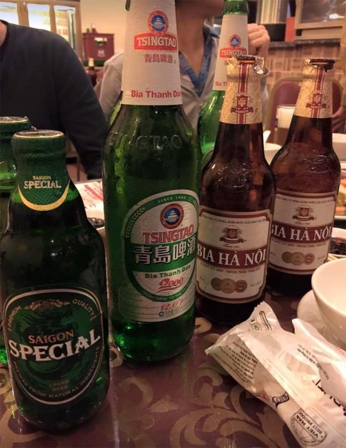 チンタオビールや紹興酒も抜群の味