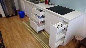 キッチンの収納もしっかり