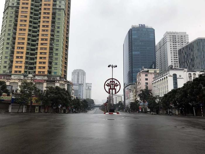 超激混みのNguyen Chi Thanh通りが、テトに入るとこうなる。爽快です(笑)