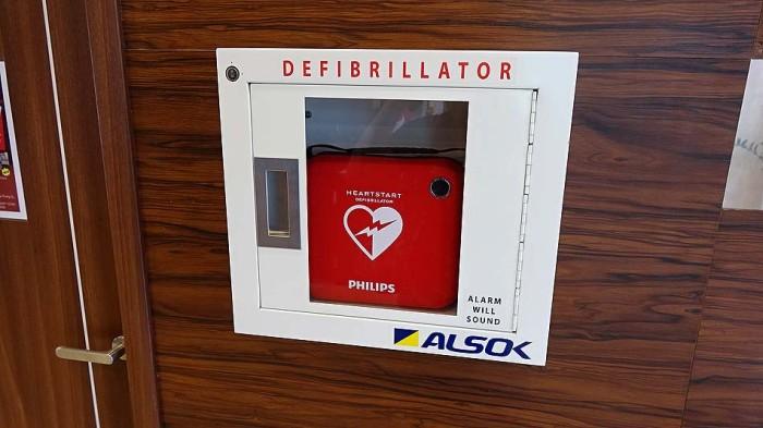 AEDもしっかりと標準装備です
