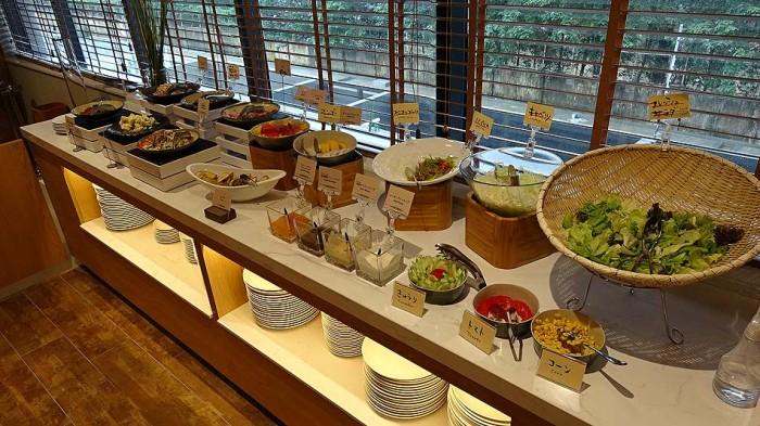 豊富な野菜に種類の多いドレッシング