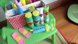 既製品のおもちゃが逆に見当たらないほど、手作りおもちゃがたくさんありました