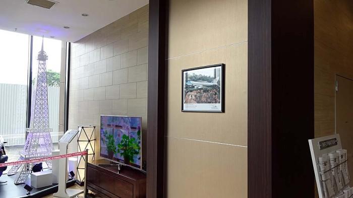 「Roygent Parks Hanoi」の1階にさりげなく掲げてある、米国Air Force Oneからの感謝状