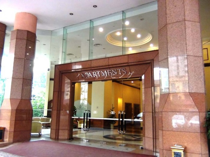 Somerset Grand Hanoiの入り口玄関