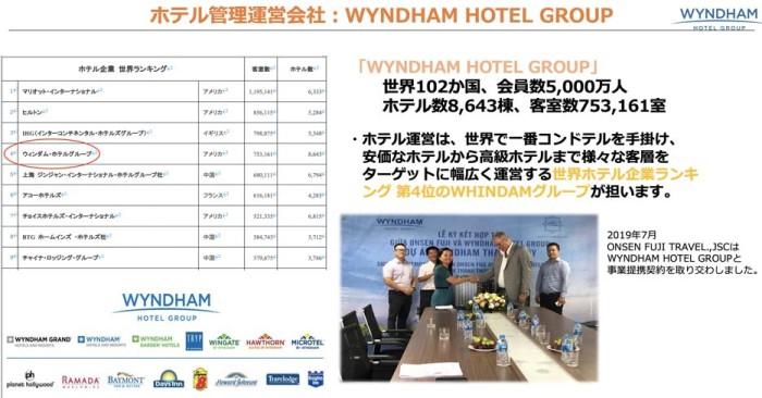 WYNDHAM HOTEL GROUPは世界で一番コンドテルを仕掛けているホテルです