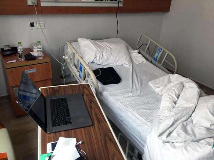 術後の結果を待つ病室「どれだけ綺麗でも長居したくはありませんね」