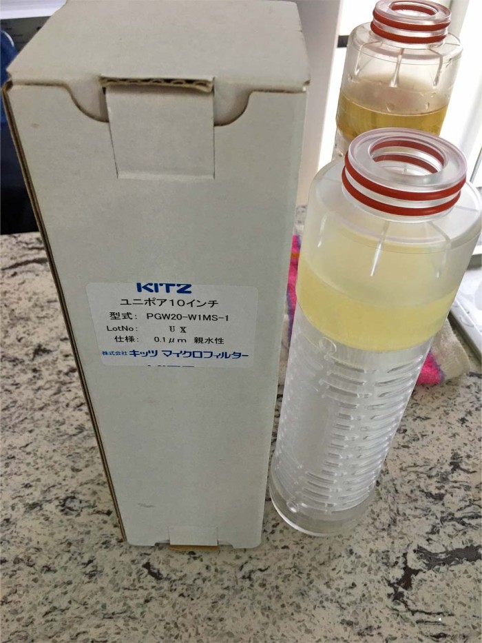 最終的に飲める水にする中空糸膜フィルターは、日本製の「キッツマイクロフィルター」を採用しています