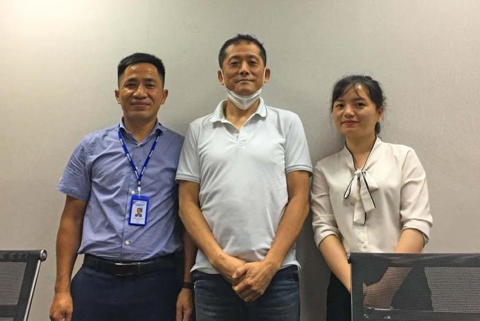 Sang社長(左)と日本語抜群のHuyenさん(右)がしっかりとサポートしてくれます
