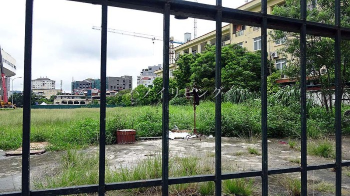 Ba Dinh地区のLieu Giai通り沿いの一等地