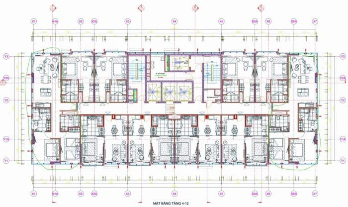 Fraser SuitesのTower B間取り図面